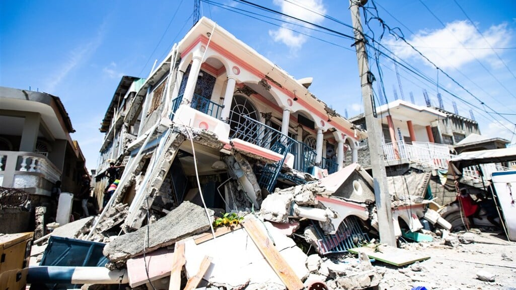 health, building destroyed by earthquake